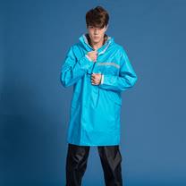OutPerform-頂峰360度全方位太空背包雨衣(短版)-湖藍-上衣+單褲