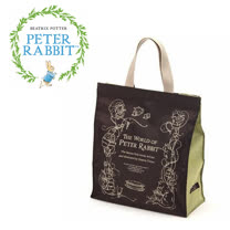 【クロワッサン科羅沙】Peter Rabbit~ 經典比得兔story手提袋 (大) 咖啡色