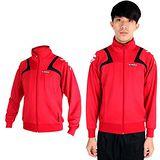 (男) KAPPA 針織外套-立領 休閒外套 紅黑白