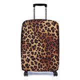 Bibelib 法國設計品牌 彈性行李箱套-非洲豹(適用26-31吋行李箱)
