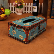 PUSH! 居家生活用品 復古雞尾酒 紙巾盒 面紙盒 衛生紙抽取收納盒I35