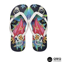 【QWQ】創意設計夾腳拖鞋-怒髮花-黑(男款)