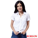 BOBSON  女款'格狀提織紋襯衫 (25134-81)