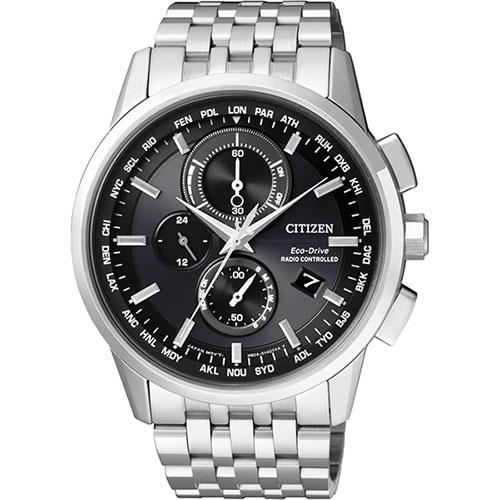 CITIZEN Eco~Drive 萬年曆電波腕錶~黑 43mm AT8110~61E