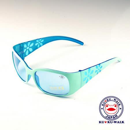 日本Ku Ku Walk儿童太阳眼镜-苹果绿印花款