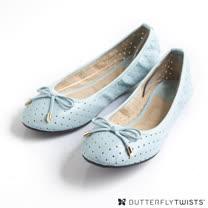 BUTTERFLY TWISTS - GRACE可折疊扭轉芭蕾舞鞋-淡粉藍