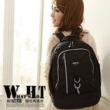 WAIPU 輕量防潑水休閒後背包 (百搭黑) 651