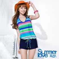 【SUMMERLOVE夏之戀】熱情艷夏連身褲三件式泳衣(S16730)