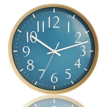 《Peachy life》日式簡約凸玻璃高質感曲木時鐘 掛鐘(4色可選)