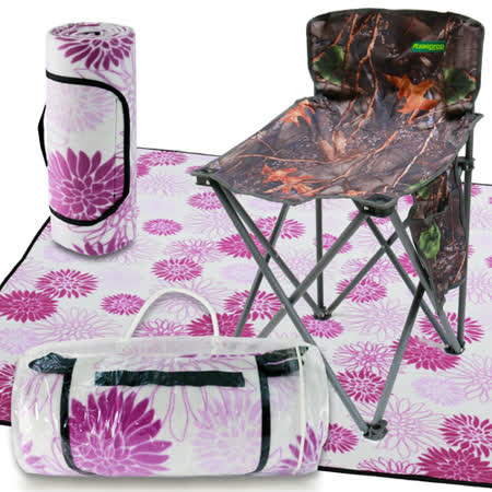 【unicorn】夏日悠閒-戶外野餐趣/雙組合(休閒椅U1128B+野餐墊SY043)