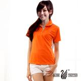【遊遍天下】台灣製女款顯瘦吸排涼感POLO機能衫 (桔XL-3L) (品特)