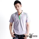 【遊遍天下】台灣製男款吸排涼感POLO機能衫 (淡紫M-3L) (品特)