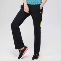 FIVE UP(女)- 色塊拼接吸排針織長褲-黃