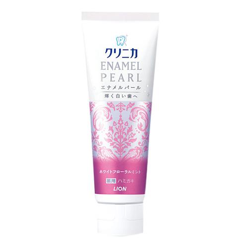 【LION日本獅王】珍珠亮白牙膏130g-百花薄菏