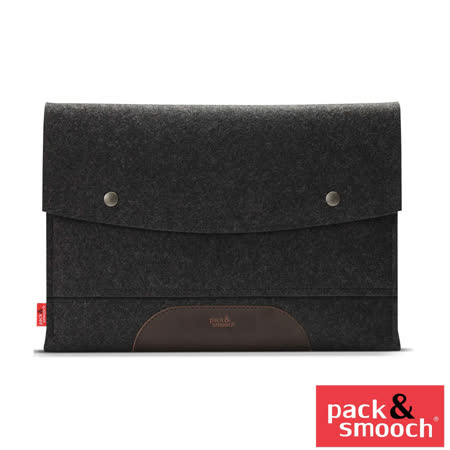 Pack&Smooch Hampshire Apple MacBook Pro 15吋 (Retina) 手作羊毛氈保護內袋 (碳黑/淺棕)