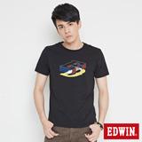EDWIN 網路限定 立體配色ED短袖T恤-男-黑色