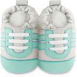 英國 shooshoos 安全無毒真皮手工鞋/學步鞋/嬰兒鞋_湖水綠運動型_101038 (公司貨)
