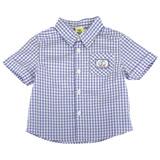 【愛的世界】MYBABY 賽艇系列純棉格紋襯衫/2~4歲-台灣製-