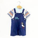 【愛的世界】LOVEWORLD 海鸚鵡系列背心褲套裝/6個月~2歲-台灣製-