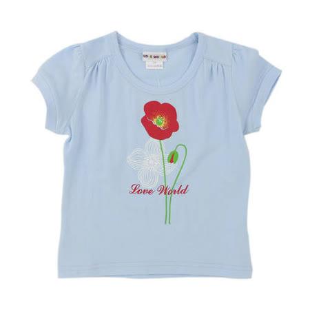【愛的世界】LOVEWORLD 罌粟花系列圓領彈性短袖T恤/2歲-台灣製-