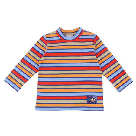 【愛的世界】MYBEAR 森林裡的畫家系列彩色橫條紋上衣/4~8歲-台灣製-