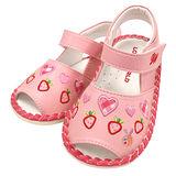 【愛的世界】LOVEWORLD 甜蜜草莓園寶寶鞋/涼鞋/13CM~15CM-台灣製-