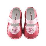 【愛的世界】LOVEWORLD 玫瑰小熊寶寶鞋/學步鞋/13~14.5CM-台灣製-