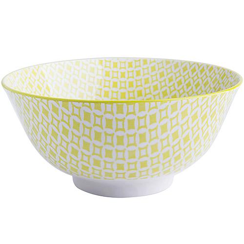 ~EXCELSA~Oriented瓷餐碗 菱紋綠15.5cm