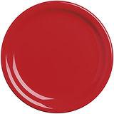 《EXCELSA》Fashion陶製淺餐盤(紅19.5cm)