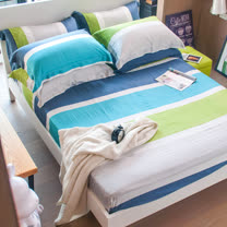 OLIVIA 《托尼》天絲 加大雙人床包歐式枕套三件組 全程台灣生產製造