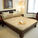 范登伯格 雅柔冰絲涼夏雙人床蓆組-含枕片*2-5*6.2尺