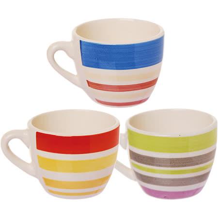 《EXCELSA》手繪條紋咖啡杯(80ml)