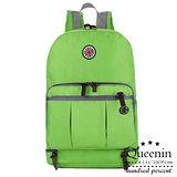 DF Queenin日韓 - 休閒機能輕量折疊後背包-綠色