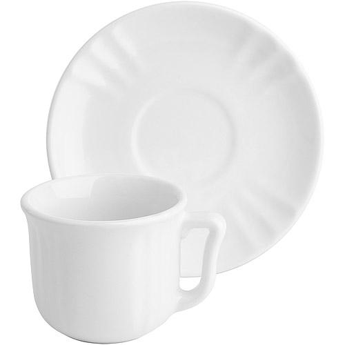 ~EXCELSA~Chic陶製咖啡杯碟組 白90ml