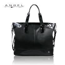 ANGEL極致黑牛皮托特包(橫式)0266-A6801