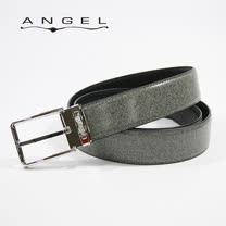 ANGEL灰色系大理石紋穿針皮帶0566-A7836