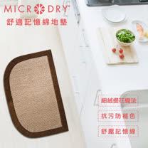 【MICRODRY時尚地墊】All Purpose Mat雙色舒適多功能地墊(巧克織紋F)