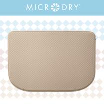 【MICRODRY紐約時尚地墊】網紋多功能地墊-亞麻色(F)