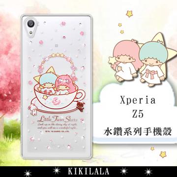 三麗鷗SANRIO正版授權 雙子星仙子 KiKiLaLa  SONY Xperia Z5 5.2吋 水鑽系列軟式手機殼(許願杯)
