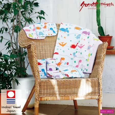 【クロワッサン科羅沙】日本ISSO ECCO今治(imabari towel)~棉紗恐龍世界方巾 34*35cm