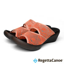 RegettaCanoe-女款-CJLW-5518優雅樂步休閒鞋- 淡橘色