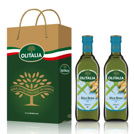 Olitalia奥利塔玄米油礼盒组(750mlx2瓶)