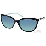 Tiffany&CO.太陽眼鏡 奢華典雅經典珍珠款(黑-流線水藍) #TF4105HB 81939S