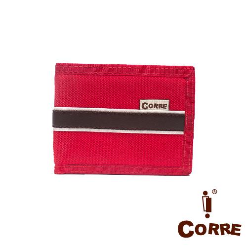 CORRE ~ 自我風格MIT原色系對折扣式短夾~紅