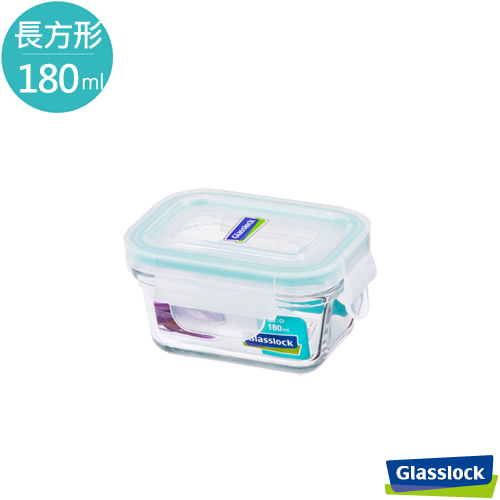 Glasslock強化玻璃微波保鮮盒 - 長方形180ml