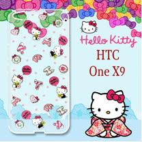 三麗鷗授權 Hello Kitty 凱蒂貓 HTC ONE X9  浮雕彩繪透明手機殼(繽紛點心)