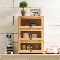 [自然行] 原木兒童家具 原木模型展示櫃(水洗白/安全環保塗裝)