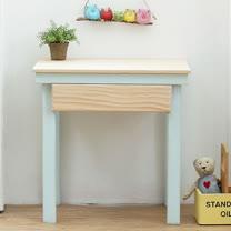 [自然行] 原木兒童家具 兒童學習桌 (Marshmallow/嬰兒藍/安全環保塗裝)