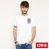 EDWIN RIDE NEVER STOP短袖T恤-白色