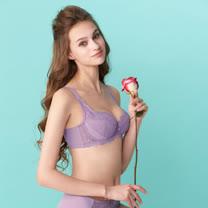 【曼黛瑪璉】包覆提托經典內衣 B-E罩杯(瑰麗紫)
